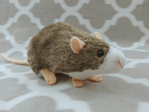 Agouti Grey Blazed Rat Plushie