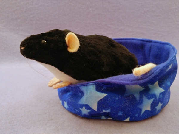 Black Berkshire Rat Plushie