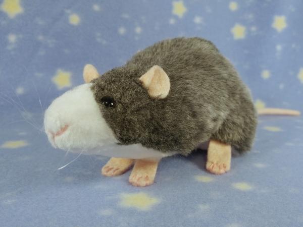 Blue Grey Blazed Rat Plushie