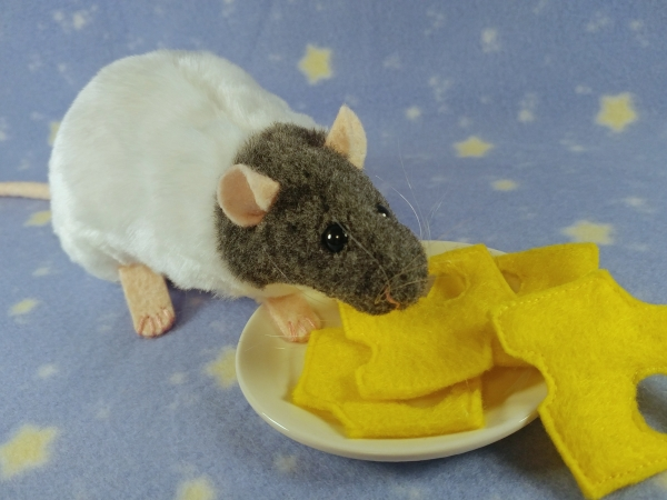 Blue Grey Capped Rat Plushie