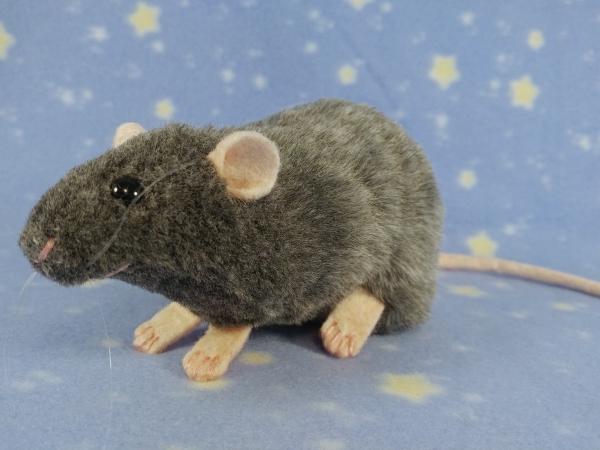 Blue Grey Berkshire Rat Plushie