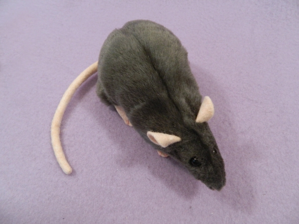 Dark Grey Rat Plushie