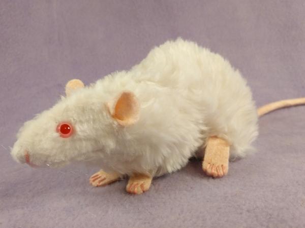 White Rex Rat Plushie