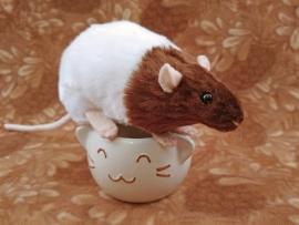 Brown Bareback Rat Plushie