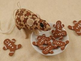 Gingerbread Mouse/Rat Ornament