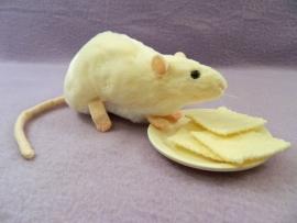 Ivory Berkshire Rat Plushie