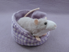 Light Grey Blazed Rat Plushie