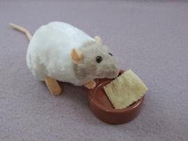 Light Grey Capped Rat Plushie