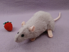 Light Grey Rat Plushie