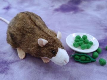 Agouti Brown Blazed Rat Plushie