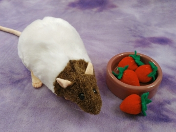 Agouti Brown Capped Rat Plushie