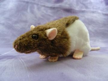 Agouti Brown Half-Hooded Rat Plushie