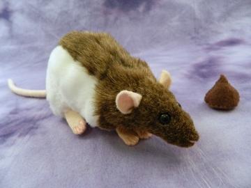 Agouti Brown Hooded Rat Plushie