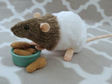 Agouti Grey Bareback Rat Plushie