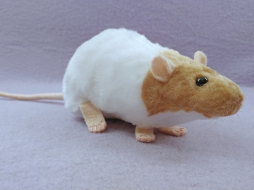 Beige Capped Rat Plushie