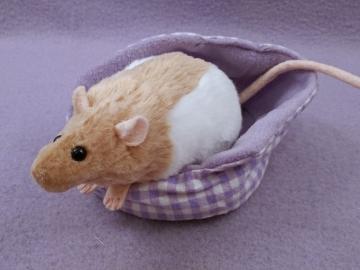Beige Half-Hooded Rat Plushie
