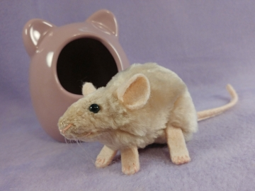 Beige Mouse Plushie