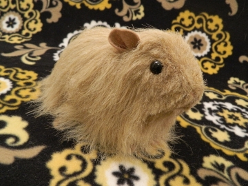 Big Beige Longhaired Guinea Pig Plushie