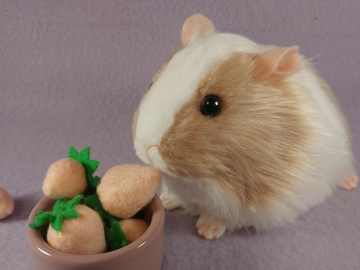 Big Frosted Pink Dutch Guinea Pig Plushie