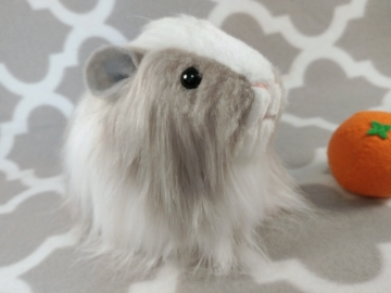 Big Grey Dutch Longhaired Guinea Pig Plushie