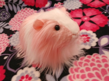 Big Pink Longhaired Dutch Guinea Pig Plushie