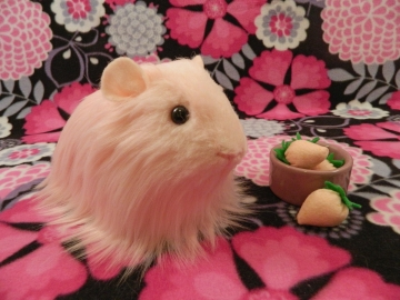Big Pink Longhaired Guinea Pig Plushie