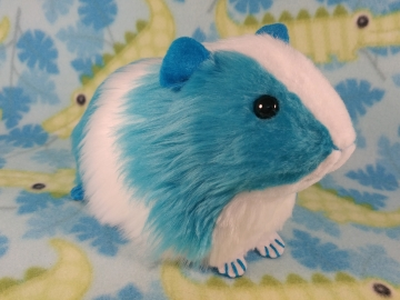 Big Turquoise Dutch Guinea Pig Plushie