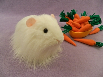 Big White Longhaired Guinea Pig Plushie