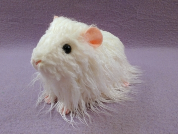 Big White Texel Guinea Pig Plushie