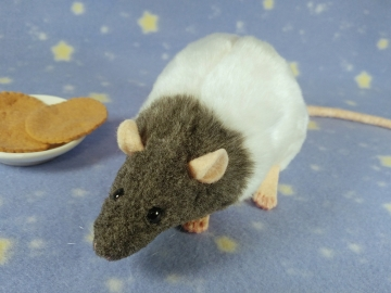 Blue Grey Bareback Rat Plushie