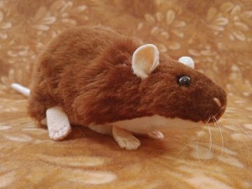 Brown Berkshire Rat Plushie