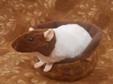 Brown Capped Rat Plushie