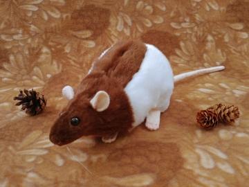 Brown Half-Hooded Rat Plushie