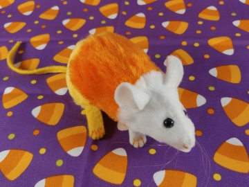 Candy Corn Mouse Plushie