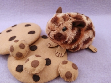 Little Chocolate Chip Guinea Pig Plushie