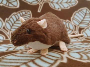 Dark Brown Berkshire Rat Plushie