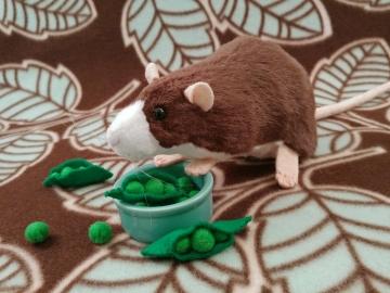 Dark Brown Blazed Rat Plushie