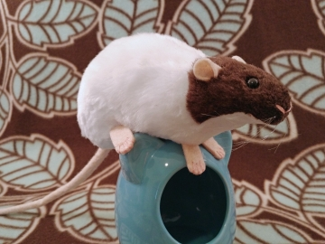 Dark Brown Capped Rat Plushie