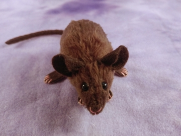 Dark Brown Mouse Plushie