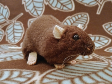 Dark Brown Rat Plushie
