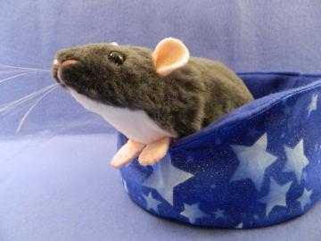 Dark Grey Berkshire Rat Plushie