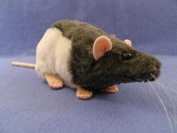 Dark Grey Hooded Rat Plushie