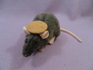 Dark Grey Rat Plushie