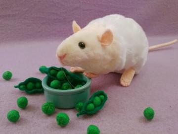 Ivory Bareback Rat Plushie