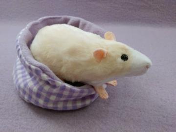 Ivory Blazed Rat Plushie
