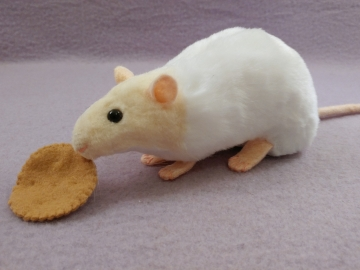 Ivory Capped Rat Plushie