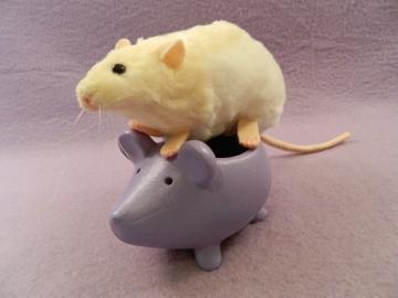 Ivory Hooded Rat Plushie
