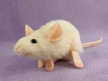 Ivory Mouse Plushie