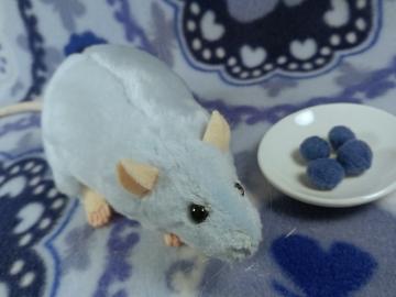 Light Blue Rat Plushie