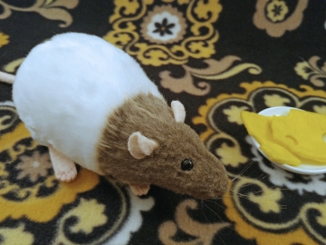 Light Brown Bareback Rat Plushie
